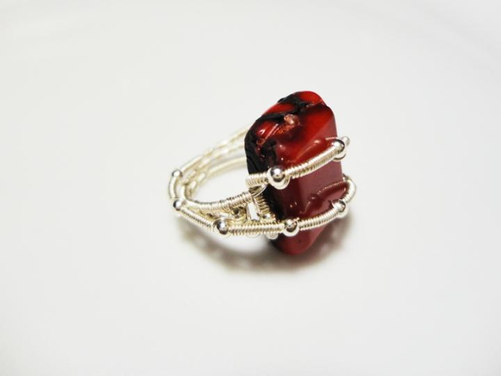 Twisted Coral Ring